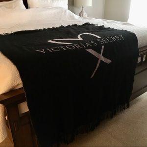 Black Fringe Victoria's Secret Blanket